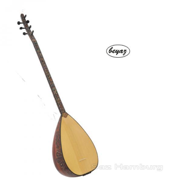 Baglama Saz Quality Longneck Ebony Zebrano Wood