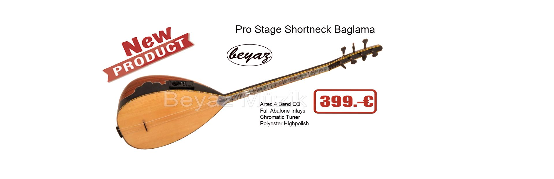 New Product Ase 4  Baglama shortneck