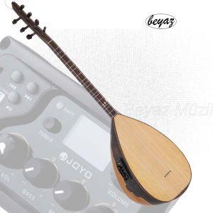 Pro Ritimli Baglama Saz Beyaz Müzik Usb Mp3 Joyo EQ Preamp Dot INlays Ebony Pegs