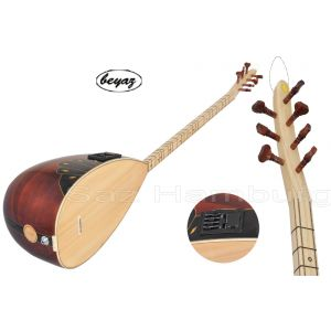 Juniper wood beyaz music Baglama Shortneck Accoustic