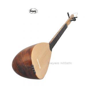 DEDE Baglama 3 STRINGS Carved  handmade Beyaz Music