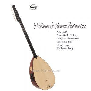 Pro Juniper Wood Custom Design Shortneck Saz Baglama