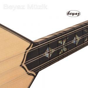 Juniper wood beyaz music Baglama Shortneck Accoustic
